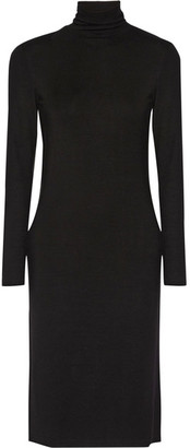 James Perse - Stretch-jersey Turtleneck Dress - Black $245 thestylecure.com