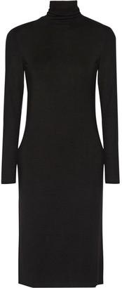 James Perse - Stretch-jersey Turtleneck Dress - Black $245 thestylecure.com