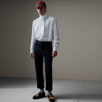 Burberry Cotton Twill Cropped Chinos