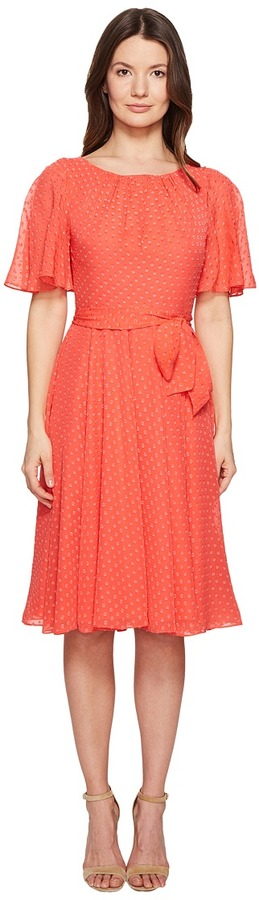 Kate Spade Kate Spade New York - Spice Things Up Clipped Chiffon Dress Women's Dress