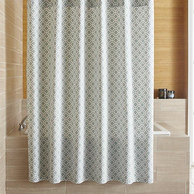 Crate & BarrelRaj Blue Shower Curtain