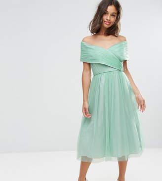 Asos (エイソス) - ASOS Petite ASOS PETITE WEDDING Tulle Midi Dress