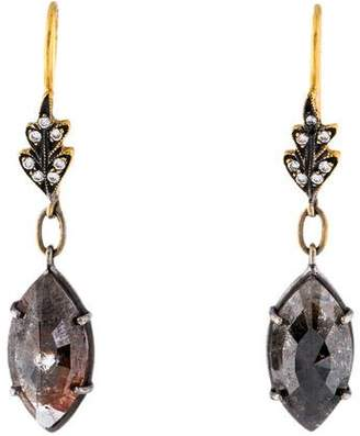 Cathy Waterman 22K Rustic Diamond Drop Earrings
