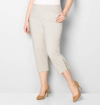 Avenue Super Stretch Pull-On Rivet Capri