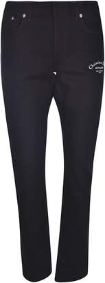 Christian Dior Mid Rise Logo Print Jeans