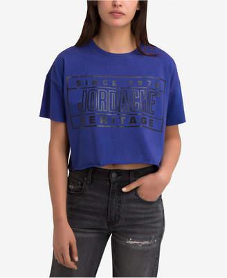 Jordache Kimberly Logo Graphic Cropped T-Shirt