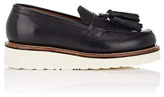 Grenson WOMEN'S CLARA LEATHER WEDGE LOAFERS