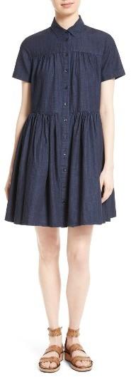Kate SpadeWomen's Kate Spade New York Chambray Swing Shirtdress
