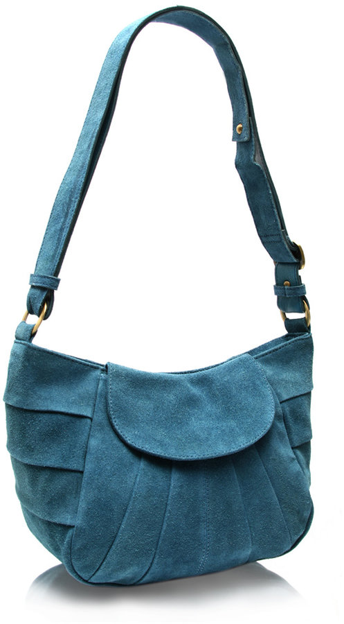 ASOS Suede Panelled Across Body Bag