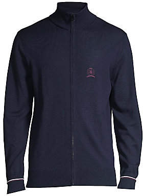 Tommy Hilfiger Edition Men's Embroidered Crest Zip-Front Knit Cardigan