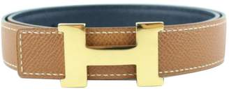 Hermes H leather belt