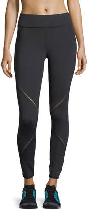 Michi Axial Full-Length Performance Leggings with Ladder Trim