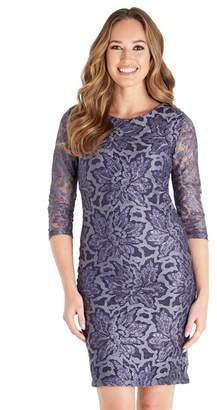 Joe Browns Purple Lace 'Passionate' Knee Length Bodycon Dress