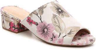 Women's Amour Sandal -Orange Floral Fabric $50 thestylecure.com