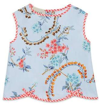 Gucci Baby poplin top with GG floral print