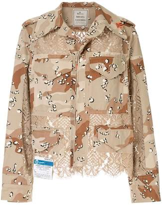Puma Maison Yasuhiro lace-panel military jacket