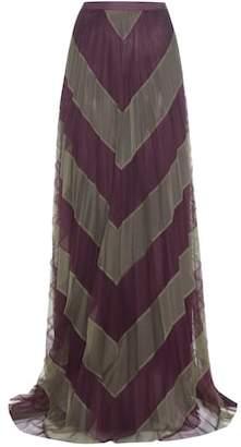 Mary Katrantzou Giselle striped tulle skirt