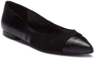 Nine West Belie Croc Embossed Leather Flat