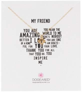 Dogeared 14K Gold Vermeil My Person Open Diamond Pendant Necklace