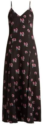 Racil - Ava Floral Print Silk Dress - Womens - Black Multi