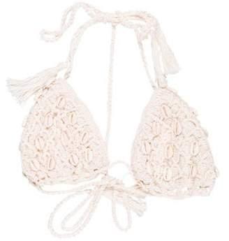 Anna Kosturova Embellished Swimsuit Top w/ Tags