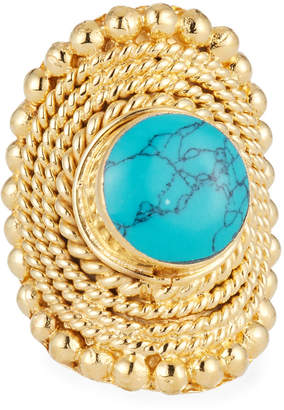 Devon Leigh Woven Turquoise Ring