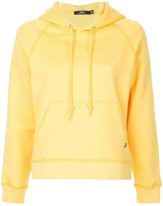 Obey logo embroidered hoodie