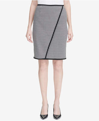 Calvin Klein Petite Houndstooth Pencil Skirt