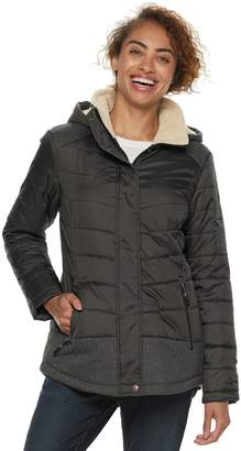 Free Country Women's Hooded Mixed-Media Quilted Jacket