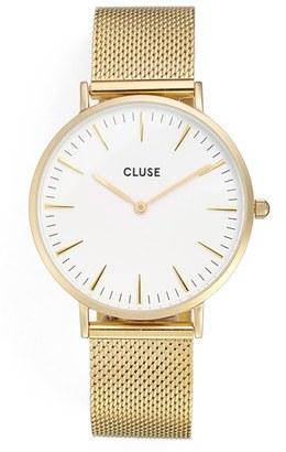 Women's Cluse 'La Boheme' Mesh Strap Watch, 38Mm $114 thestylecure.com