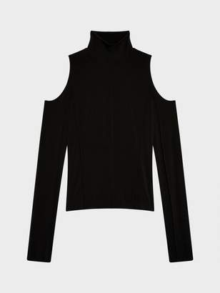 Donna Karan Donnakaran Cold Shoulder Turtleneck