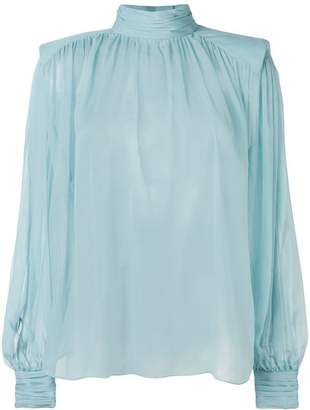 Alberta Ferretti high neck blouse