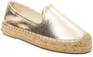 Soludos Women's Metallic Platform Slipper