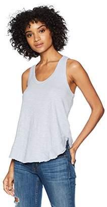 Wilt Women's Shrunken Ruffle Shirttail Tank