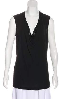 Jean Paul Gaultier Embellished Sleeveless Top