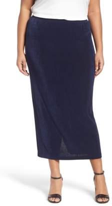 Vikki Vi Stretch Knit Straight Maxi Skirt