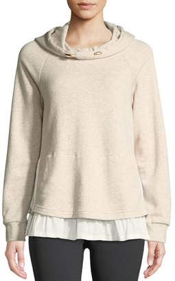 Kate Spade Ruffle Pullover Layered Hoodie