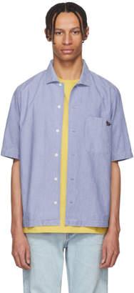 MAISON KITSUNÉ Blue Short Sleeve Chambray Shirt