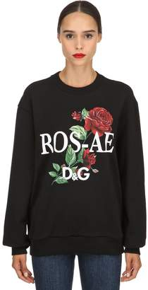 Dolce & Gabbana Floral Printed Cotton Sweatshirt