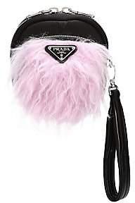 Prada Women's Tessuto Pocket Nylon & Mohair Wristlet Pouch