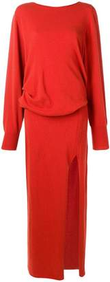 Jacquemus side slit knitted dress