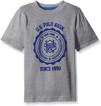 U.S. Polo Assn. Little Boys' Flocked Logo Print T-shirt