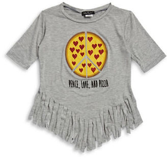 Miss Popular Girls 7-16 Peace Love and Pizza Top $22 thestylecure.com