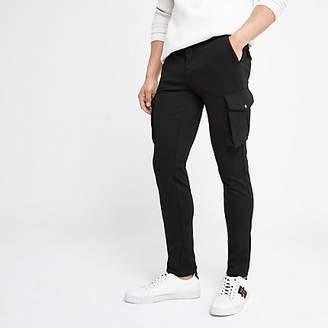 River Island Black skinny smart cargo trousers