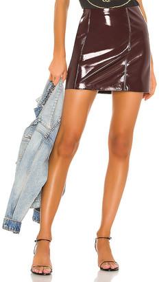 Blank NYC BLANKNYC Raspberry Beret Vegan Leather Mini Skirt