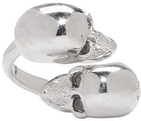 Alexander McQueenAlexander McQueen Silver Twin Skull Ring