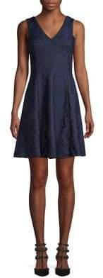 Kensie Bonded Lace A-Line Dress