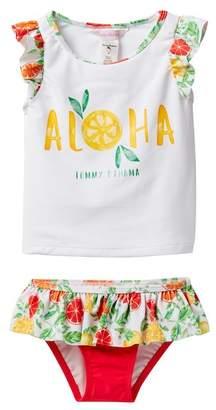 Tommy Bahama Aloha Flutter Sleeve Tankini Set (Little Girls)
