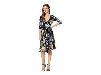 Unique Vintage Floral Wrap Dress