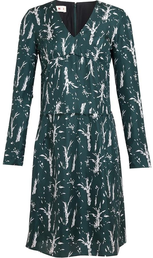 Marni Printed Silk Twill Dress